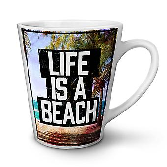 Life Is A Beach nye hvit te kaffe keramiske Latte krus 12 oz | Wellcoda