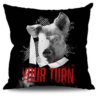 Your turn Beast Linen Cushion 30cm x 30cm | Wellcoda