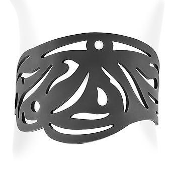 Bracelet Tribal en Silicone Noir effet Tatouage 6134