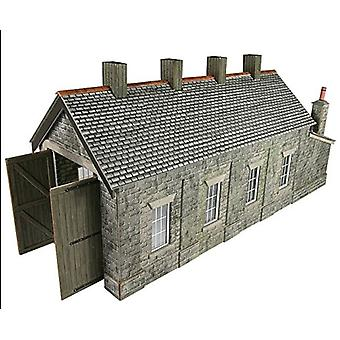 Metcalf Oo/Ho Scale Engine Shed Naturstein eingleisig
