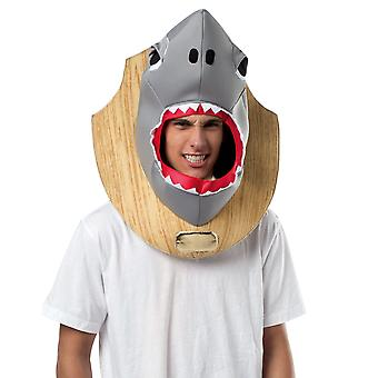 Shark Trophy Heads Headgear Fish Funny Men Costume Headpiece