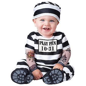 Time Out Prisoner Jail Inmate Baby Bunting Boys Infant Costume