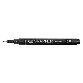 Derwent Graphik Line Maker Pen - Black 0.8 Tip
