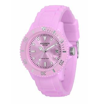Candy tijd door Madison N.Y.. horloge unisex U4167-24-1 pastellila