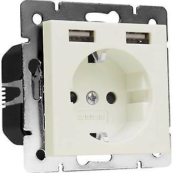 2USB フラッシュ マウント ソケット含む USB、子供の安全 IP20 クリーム ホワイト × 1493576 1