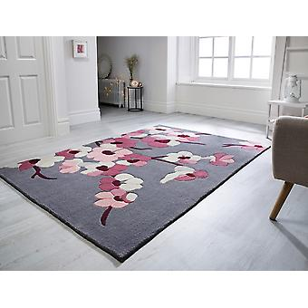 Blossom infinie à charbon Rectangle rose tapis tapis Funky