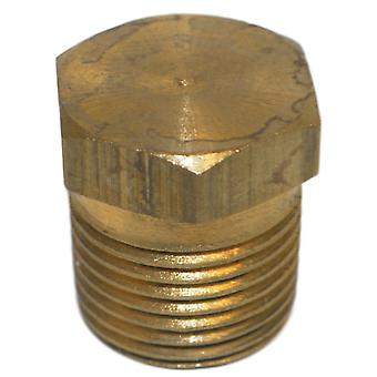 Big A Service Line 3-20920 Brass Hex Head Pipe Plug 1/8""
