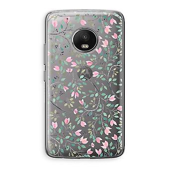 Motorola Moto G5 boîtier Transparent (doux) - fleurs délicates