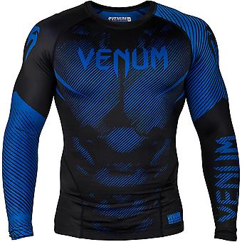 Venum No-Gi 2.0 Long Sleeve MMA Compression Rashguard - Black/Blue