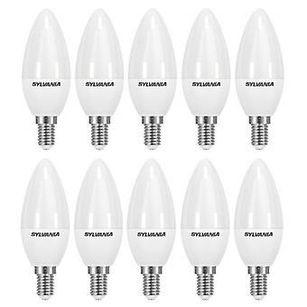 10 x Sylvania ToLEDo Candle E14 V3 5.5W Homelight LED 470lm [Energy Class A+]