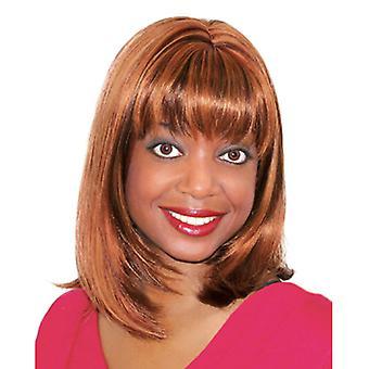 Fashion women medium straight E JOLA professional wig