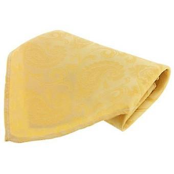 David Van Hagen suuri Paisley silkkisen nenäliinan - keltainen
