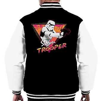 Originele Stormtrooper Retro Wave 80s mannen Varsity Jacket