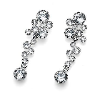 Oliver Weber Post Earring External Rhodium Crystal