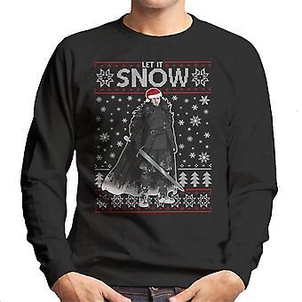 Lasciarlo Jon Snow gioco di troni Natale maglia felpa
