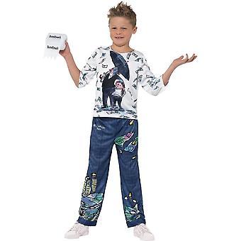 David Walliams multimillonario Deluxe niño traje, vestido de lujo, Tween 12 +
