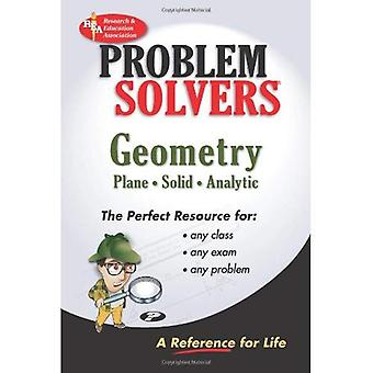 The Geometry: Plane, Solid, Analytic: A Complete Solution Guide to Any Textbook (Problem Solvers)