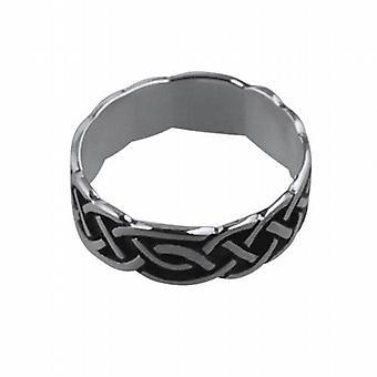 تتأكسد الفضة 6 مم سلتيك خاتم الزواج حجم Q