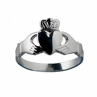 Silver 22x14mm Claddagh Ring Size Z