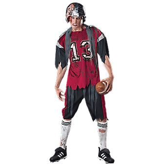 Mens Dead Zone Zombie American Football Player Halloween Fancy Dress Costume