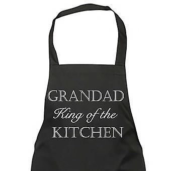 Grandad King Of The Kitchen Black Apron
