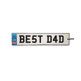 Best Dad License Plate Car Air Freshener