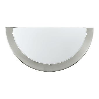 Eglo Planet Nickel Wall Uplighter With Satin Glass