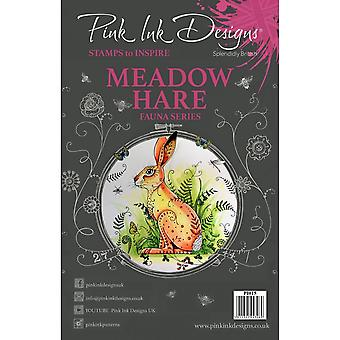 Pink Ink Designs Meadow Hare Fauna Clear Stamp 14 Set