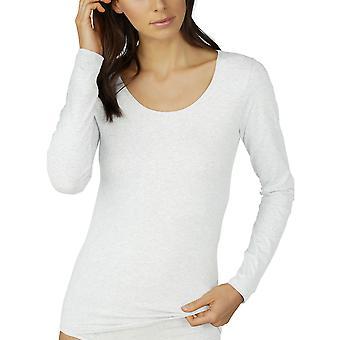 Haut en manches longues pur coton Mey 26502 la femme
