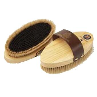 Equerry Leather Handle Wooden Body Brush