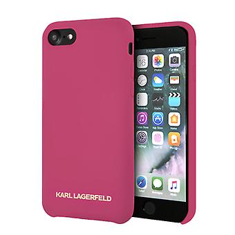 KARL LAGERFELD Gold Logo, Pink Shell voor iPhone 7/8 / SE (2020)