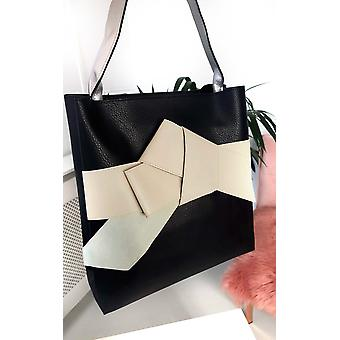 IKRUSH Womens Maria Farbe Block Bogen Tote Handtasche