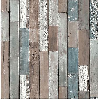 Fina decoración madera recuperación registro madera peso pesado Natural Wallpaper