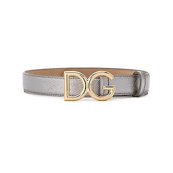 Dolce E Gabbana Be1325az80880750 Mujeres's Cinturón de Cuero de Plata