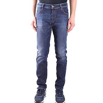 Paolo Pecora Ezbc059026 Men's Blue Cotton Jeans