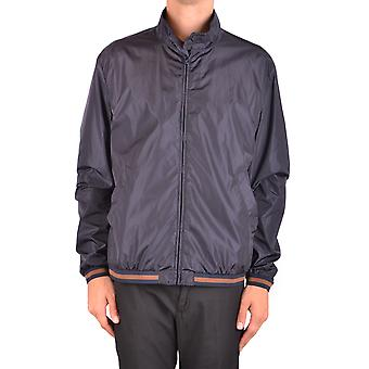 Fay Ezbc035024 Men's Blue Nylon Outerwear Jacket