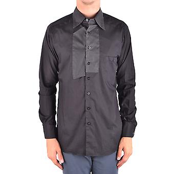 Yohji Yamamoto Ezbc106034 Men's Black Cotton Shirt