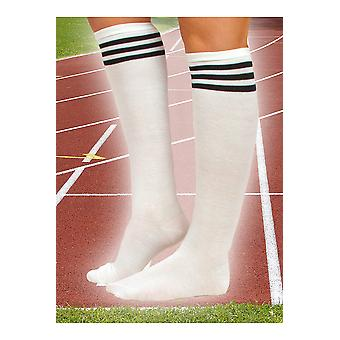 Stockings and leg accessories  White knee stocking with 3 black stripes