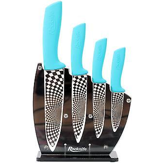 Ensemble de couteau de cuisine en céramique bleu Aqua