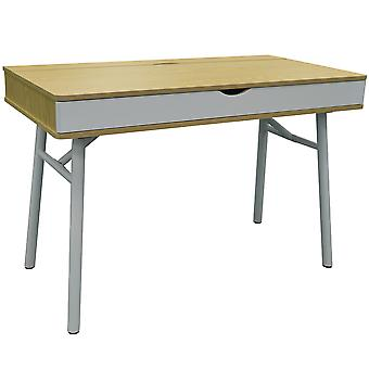 Tech - Modern Retro Hideaway Office Desk / datorarbetsplats - ek / vit