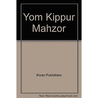 Yom Kippur Mahzor - 9789653012592 Book