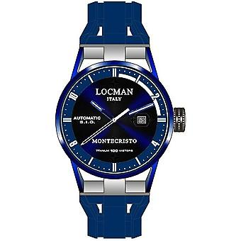 Locman Watches Men's Automed Watch Montechristo 0511BLBLFWH0SIB
