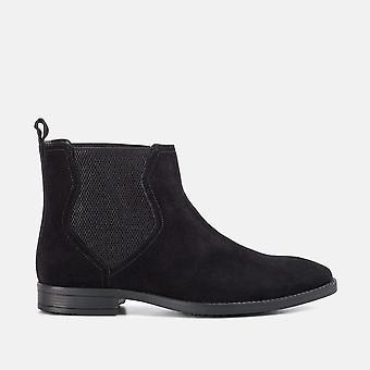Thomas black suede chelsea boot