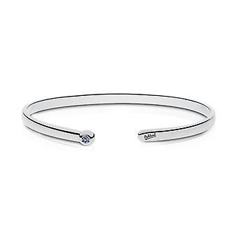 Oakland Atletik indgraveret Sterling Sølv Hvid Sapphire Cuff armbånd