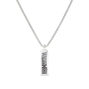 Wrestle Mania Pendant Necklace In Sterling Silver Design by BIXLER