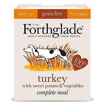 ForthgladeTurkey With Potato & Vegetables 395g Dog Wet Food Tray