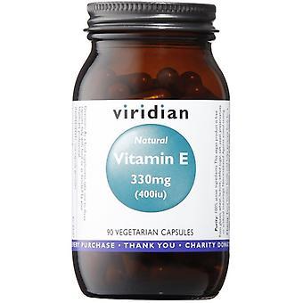 Viridian Natural vitamine E 400IU VEG caps 90 (297)