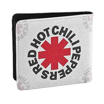 Red Hot Chili Peppers Wallet White Asterisk Band Logo new Official White Bifold