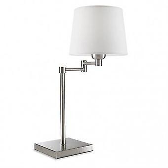 1 lámpara de mesa ajustable claro satinado níquel