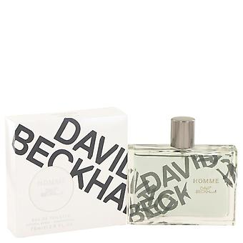 David Beckham homme eau de toilette spray by david beckham 502582 75 ml